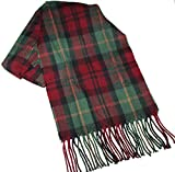 Eddie Bauer Men's 72 Inch Plaid Acrylic Scarf (Burgundy/Green Plaid)