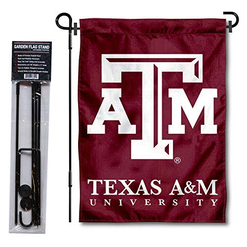 Texas A&m Aggies Yard - College Flags and Banners Co. Texas A&M Aggies Garden Flag with Stand Holder