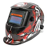 The Spear of Death Pattern Solar Auto Darkening Welding Grinding Helmet Welder MIG Mask - Electrical Welding Tools Helmet Mask & Goggles - 1 x Digital LCD Thermometer Hygrometer