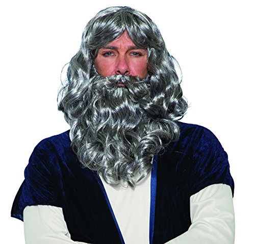 Forum Novelties Biblical Wig and Beard Costume Set Gray -