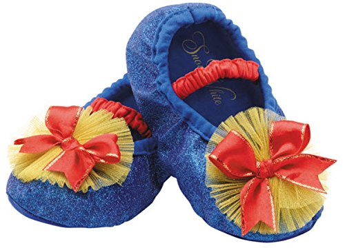 Deluxe Snow White Toddler & Child Costumes (Disguise Costumes Snow White Slippers, Toddler, Size 6)