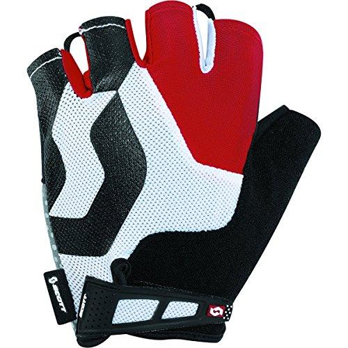 (Scott Sports Mens Essential Short Finger Cycling Gloves - 227992 (Black/red - L))