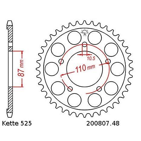 offen 15//48 Kettensatz geeignet f/ür Suzuki GSF 650 Bandit 07-14 Kette RK 525 GXW 118