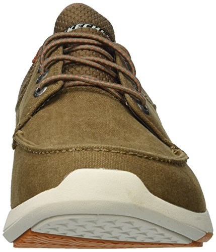 Men's mosen Fit Para elent Claro Skechers Bote Usa Hombre Marrón Zapatos Relaxed 5wCXcHq