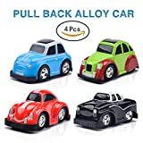 #2: Pull Back Cars Vehicles Mini Toy Car Sets and Raced Trucks for Toddlers Gift 4 PCS