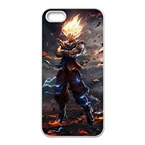 iphone5 5s case,iphone5 5s Cell phone case White Dragon Ball Goku-PUU4898012