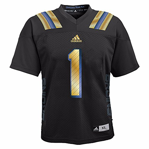 adidas UCLA Bruins NCAA Black Official Event Football #1 Replica Jersey for Toddler (2T)