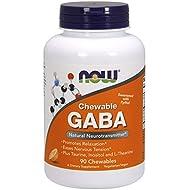 NOW GABA Orange Flavor, 90 Chewables
