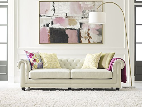 Elle Decor Amery Tufted Sofa, Chenille, Cream