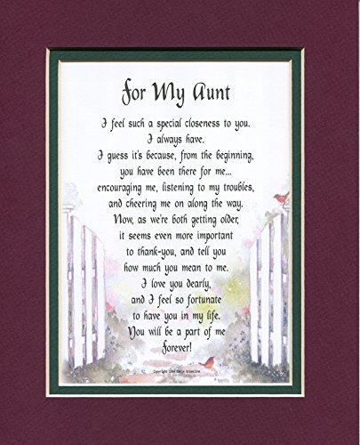 Present Birthday Gift Poem For A Favorite Aunt.#66