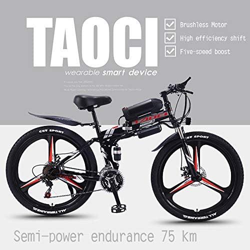 AKEFG Bicicleta eléctrica de montaña, de aleación de magnesio ...