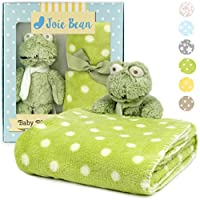Premium Baby Blanket with Stuffed Animal Plush Toy | Soft Fleece Security Throw Blanket for Baby, Newborn, and Toddler | Nursery Bedding and Baby Shower Gift