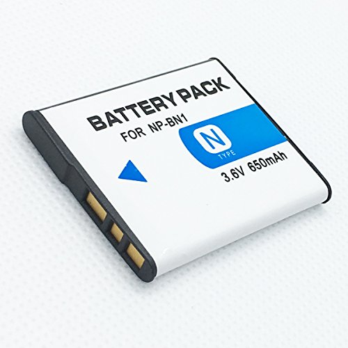 Rechargeable Li-ion Battery (2-Pack) For Sony NP-BN1 NP-BN N Type Lithium-ion Batteries ()
