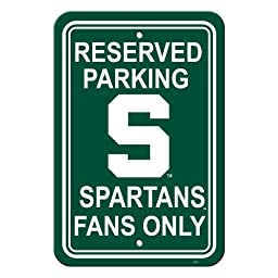 NCAA Michigan State Spartans 12-by-18 inch Plastic Parking Sign