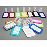 10Pcs Plastic Travel School Luggage Suitcase Bag Baggage Tags Labels Name ID Cards