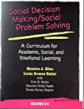 img - for Social Decision Making/Social Problem Solving: A Curriculum For Academic, Social And Emotional Learning: Grades 2-3 (Book and CD) book / textbook / text book