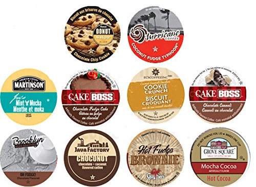 10 Cup Delicious CHOCOLATE Bliss 20 Sampler Coconut Fudge Fudge Brownie Fudge Cake Chocolate chip cookie