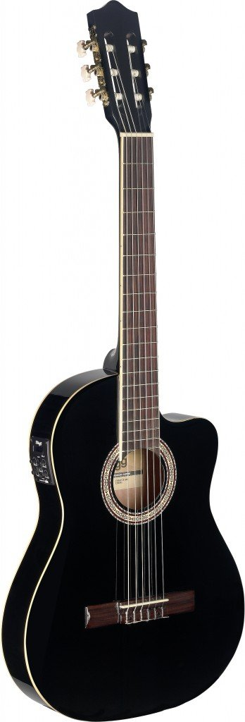 Stagg スタッグ C546TCE 4/4-Size ナイロンストリング Acoustic-Electric クラシックギター - Black アコースティックギター アコギ ギター (並行輸入)   B00PKN0R2S