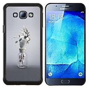 """Be-Star Único Patrón Plástico Duro Fundas Cover Cubre Hard Case Cover Para Samsung Galaxy A8 / SM-A800 ( Corazón Anatomía Arte Moderno Blanco Amor"""" )"""