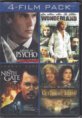 American Psycho/Wonderland/The Ninth Gate/CutThroat Island 4-Film Pack