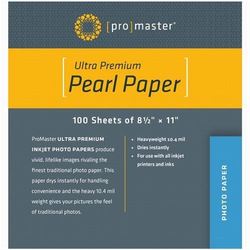 Promaster Pearl Inkjet Photo Paper - 8.5 x 11'' - 100 Sheets (Pearl Inkjet)