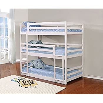 triple bunk bed with trundle matresses not included kitchen dining. Black Bedroom Furniture Sets. Home Design Ideas