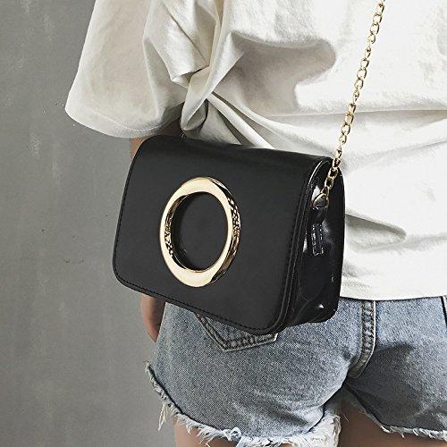 golden bolsos de black Bolso moda color circle retro sólido Borgoña Bolso Nueva cadena simple Messenger Eq5wvRv