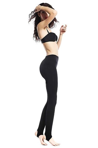 Beilini Womens Yoga Leggings Foot Tights Basic Stirrup Pantyhose Full Length Regular Workout Panties