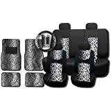Amazon Com 11pc Safari Car Mats Seat Steering Wheel Cover