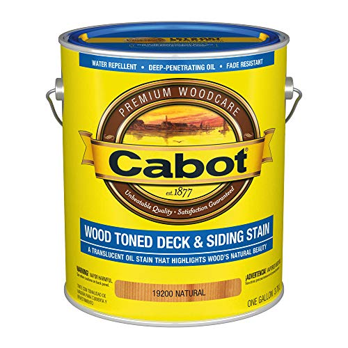 CABOT SAMUEL 19200-07 INC GAL NAT WD Deck Stain, Natural ()