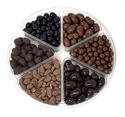 - CrazyOutlet Gift Tray - Milk and Dark Chocolate Covered Espresso Beans, Dark Chocolate Almonds, Milk Chocolate Cashews, Cocoa Coated Dusted Almonds, Milk Chocolate Peanuts Candy, 2 lbs