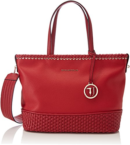 red Tote Bags Smooth Ecoleather Woman Red Bag Trussardi Totes Mimosa Jeans wHqfHxvI