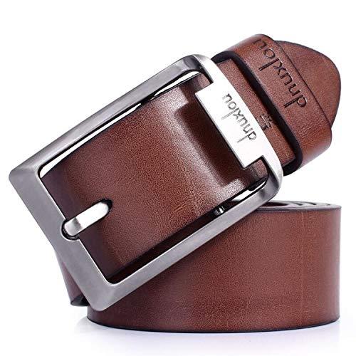 [해외]mens casual genuine leather belt cowhide retro buckle belt design Brown Belts / mens casual genuine leather belt cowhide retro buckle belt design Brown Belts