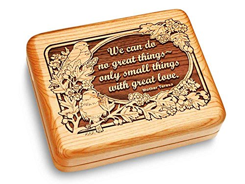 Music Box 6x5'' - Mother Teresa - Claire de Lune by Heartwood Creations