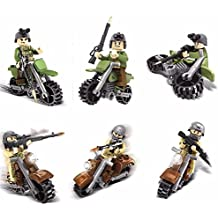 Military SWAT World War 2 Cavalry Motorcycle Army Soldier Building Blocks Toys