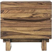 Modus Furniture 8C7981 Ocean Nightstand, Natural Sengon