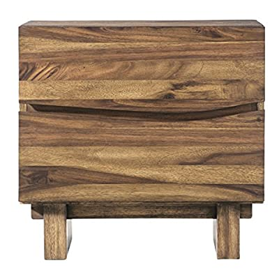 Modus Furniture Ocean Nightstand, Natural Sengon - Inspired by modern California beach-chic Crafted from solid sengon Tekik wood in a vibrant natural Finish Distinctive wave fronts provide the perfect Canvas for hidden drawer pulls - nightstands, bedroom-furniture, bedroom - 513sEMkmGRL. SS400  -