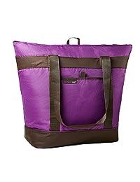 Rachael Ray Jumbo ChillOut - Bolsa térmica para la compra y el entretenimiento (tamaño XL), color morado