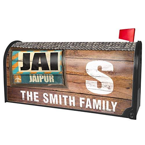 NEONBLOND Custom Mailbox Cover Airportcode Jai Jaipur