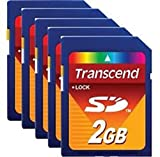 TRANSCEND TS2GSDC CARD, SD, 2GB (50 pieces)