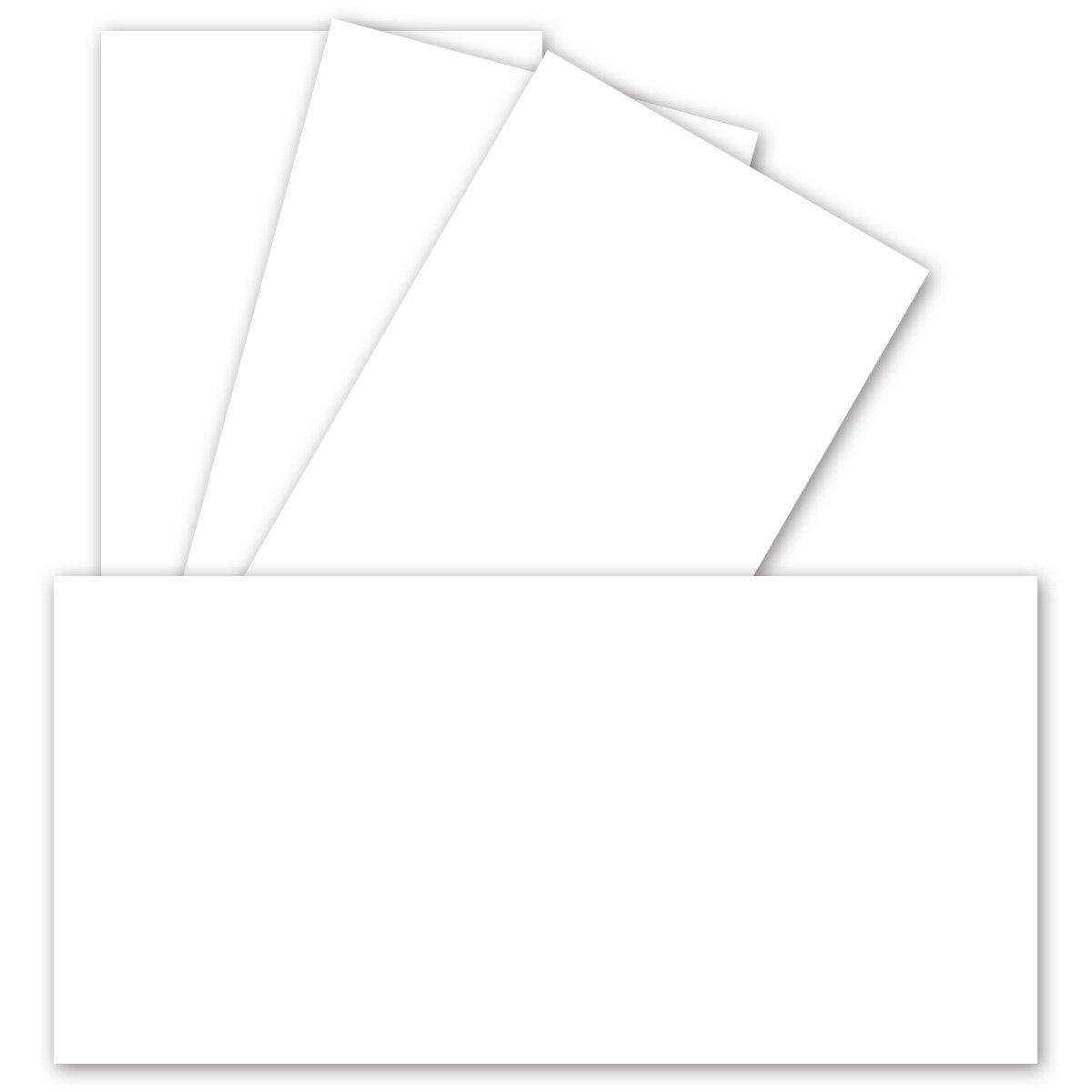 700 Stück Einzelkarten DIN Lang Matt   Hochweiß  PREMIUM QUALITÄT - 99 x 210 mm - 250 g m²   sehr formstabil - für Drucker geeignet  Ideal für Grußkarten und Einladungen   GUSTAV NEUSER B07BMX7KYL | Guter Markt