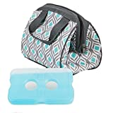 Fit and Fresh Ladies Charlotte Insulated Lunch Bag with Reusable Ice Pack and Zipper Closure