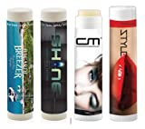Lip Balm - 150 QUANTITY - $1.20 EACH - NO SPF - Promotional - Bulk - Branded with Your Logo - Customized (150)