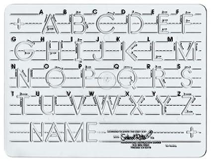 amazon com school rite handwriting templates manuscript uppercase