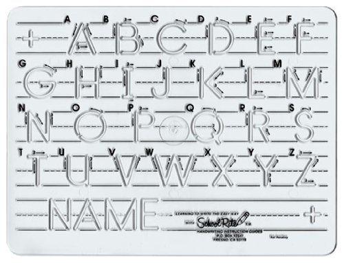 School-Rite Handwriting Templates, Manuscript - Uppercase