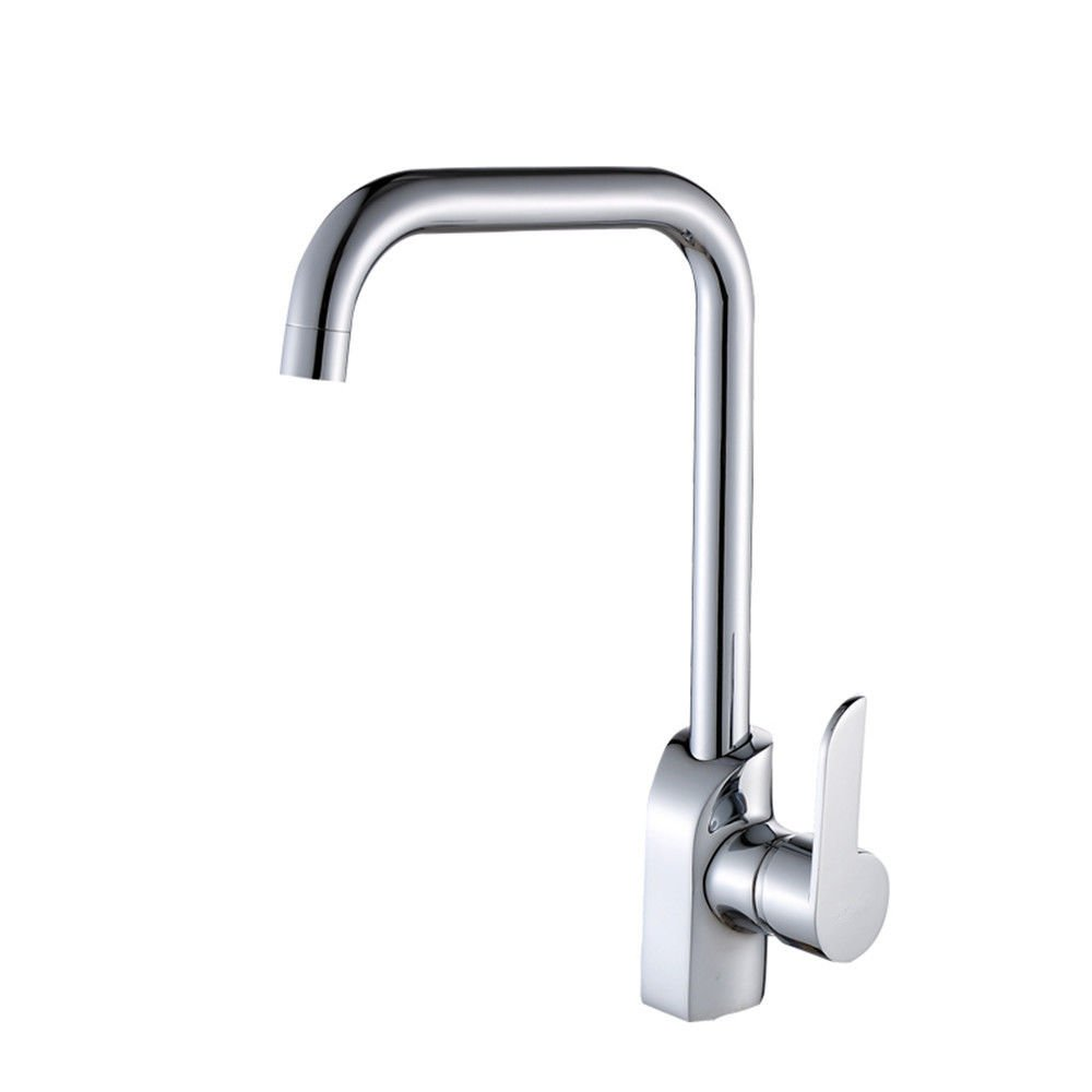 Lalaky Taps Faucet Kitchen Mixer Sink Waterfall Bathroom Mixer Basin Mixer Tap for Kitchen Bathroom and Washroom Copper Hot and Cold Can Be Rotated