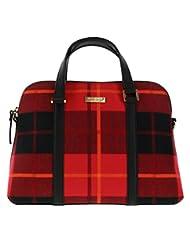 Kate Spade New York Small Rachelle Red Plaid Newbury Lane Handbag