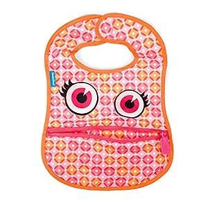 BooginHead Baby Toddler Bib, Apron, Smock, Polka Dots Pink