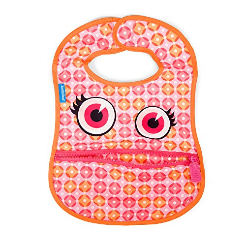 BooginHead Baby Toddler Bib, apron, smock, easy to clean, dining, mealtime, snacktime, art projects, Girl, Dottie, Polka Dots, Pink