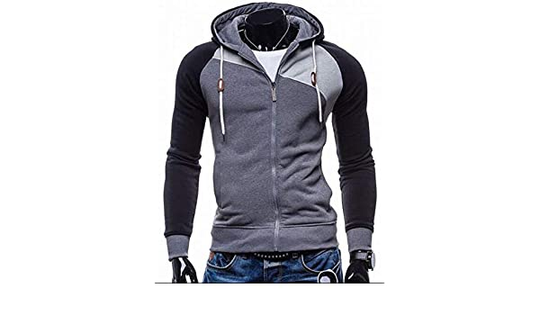 Amazon.com: 2018 Hoodies Men Sudaderas Hombre Hip Hop Mens Leisure Zipper Jacket Hoodie Sweatshirt Slim Fit,SH,L: Clothing